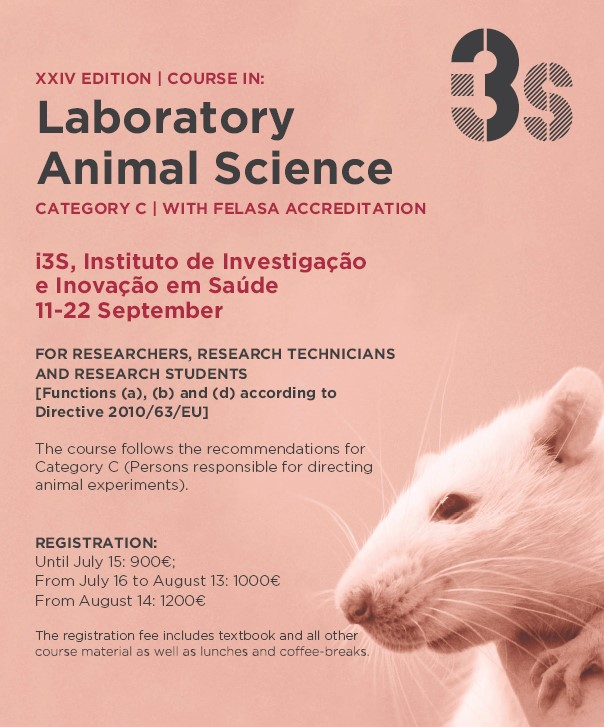 Course Announcement | XXIV ed -Laboratory Animal Science Course i3S |