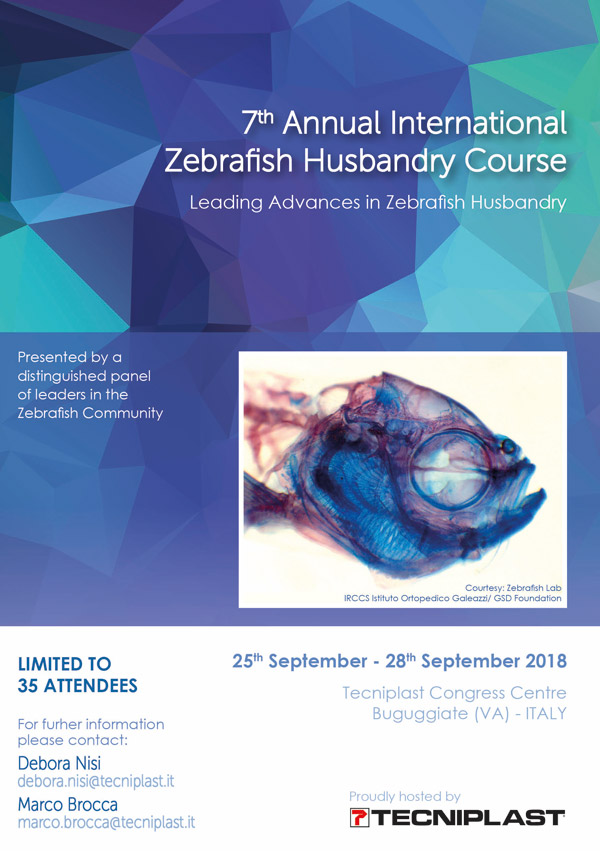 7th Annual International Zebrafish Husbandry Course